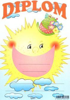Diplom A5 sluníčko – Knihkupectví Neoluxor Tweety, Activities For Kids, Diy And Crafts, Kindergarten, Preschool, Clip Art, Education, Children, Frame