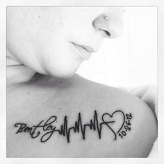 Heartbeat Tattoo Ideas - Tattoo Designs For Women!                                                                                                                                                      More