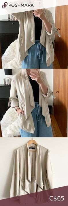 I just added this listing on Poshmark: Zara Light Unlined Jacket. #shopmycloset #poshmark #fashion #shopping #style #forsale #Zara #Jackets & Blazers Beige Trench Coat, Trench Jacket, Trench Coats, Lightweight Trench Coat, Taupe Colour, Black Winter Coat, Leopard Print Top, Double Breasted Coat, Zara Jackets