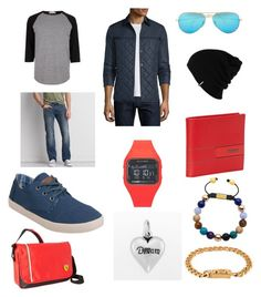 """Date Night"" by rsh-a-cap-4-e on Polyvore featuring River Island, American Eagle Outfitters, Salvatore Ferragamo, TOMS, Electric, Ray-Ban, Patagonia, Chrome Hearts, men's fashion and menswear"
