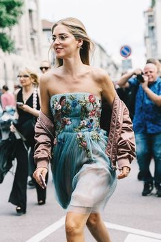 Rushing to the next show, ft Chiara and Milan Fashion Week... - Street Style