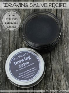 Make Your Own Drawing Salve Recipe