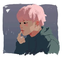…I wasn't ready for pink-haired Jimin to leave just yet :'>