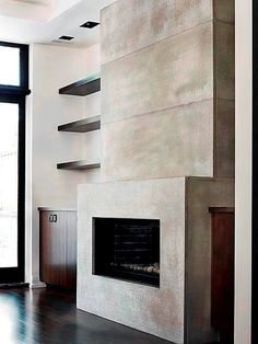 Bringing warmth and style to your home with concrete fireplace surrounds. Our custom concrete fireplace surrounds are the perfect compliment to your home. Modern Fireplace Mantles, Linear Fireplace, Shiplap Fireplace, Concrete Fireplace, Home Fireplace, Fireplace Remodel, Fireplace Inserts, Living Room With Fireplace, Fireplace Surrounds