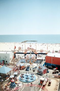 Large format photo print - Coney Island - Analog Photography