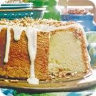 This island recipe springs from a little restaurant in the Keys.  Key lime glazed pound cake whisks you away to that tropical paradise and is the perfect recipe for entertaining guests in the summer time.