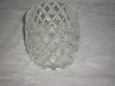Excellent Vintage Clear Glass Diamond Cut Candle Holder