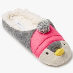 Buy John Lewis Penguin Mule Slippers, Multi Online at johnlewis.com