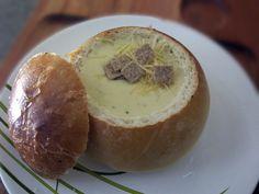Sopa caseira de creme de queijos