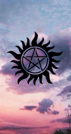 Beauty of All Kinds Supernatural Pentagram, Supernatural Symbols, Supernatural Quotes, Supernatural Fandom,