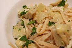 Parmesan Artichoke Pasta (7 weight watchers points plus)