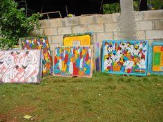 Schilderijen (naïeve kunst) in de Dominicaanse Republiek