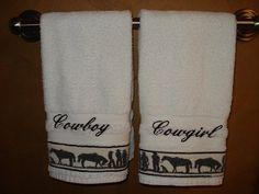 Cowboy towels