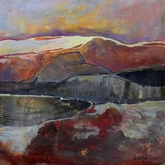 Solitude, 093017 by Carol Nelson mixed media ~ 18 inches x 18 inches