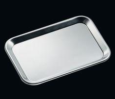 Cilio Serviertablett Bistro 31x23 cm, Edelstahl poliert