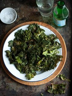 Crispy kale chips with Parmesan   Drizzle and Dip