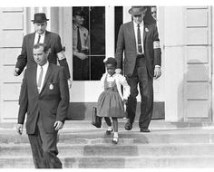 When she was just six years old, Ruby Bridges became one of the first African Americans to integrate elementary schools in the south. She courageously walked into school flanked by four U.S. Marshals. The event was later depicted in a Norman Rockwell painting.