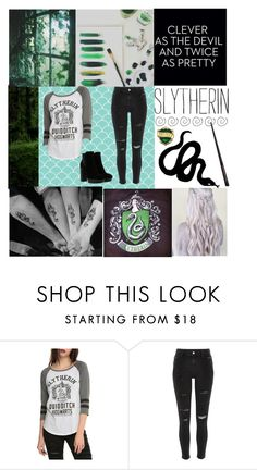 """""""🐍 SLYTHERIN 🐍"""" by ema55 ❤ liked on Polyvore featuring River Island and Hogan"""