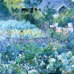 The Cabbage Patch   ---   John Twachtman – circa 1890-1893        Soft Blue Beautiful: Home and Art | ZsaZsa Bellagio - Like No Other
