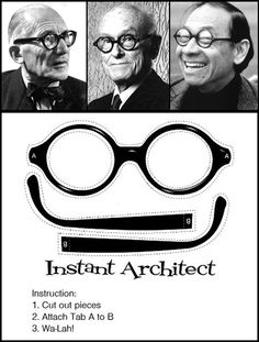 so true. make sure they're in black per le corbusier, philip johnson, and i.m.pei