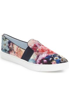 a1fdd419b68a17 Ted Baker London  Thfia  Floral Pointy Toe Slip-On Sneaker (Women)