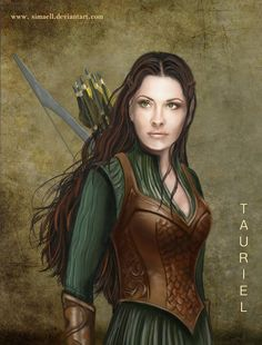 Tauriel..in defense of adding characters to the films, Peter, Fran and Philippa wanted to add dimention to the story, which is all male, so they added emotion by adding Galadriel and Tauriel, Elves...Emotion is understood by Tolkien, yet modern audiences need to be lead to it.  Makes perfect sense...