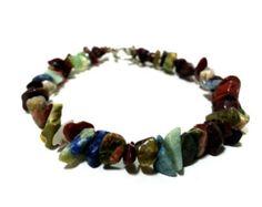 Turquoise bracelet Jasper bracelet Stretch por GnosisCraftsandGifts