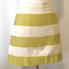 Spotted while shopping on Poshmark: J. CREW Stripe Linen Mini Skirt! #poshmark #fashion #shopping #style #J. Crew #Dresses & Skirts