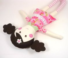 Handmade Soft Cloth Rag Doll for Girl  Eco Toy  by CleoAndPoppy, $46.00