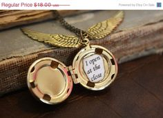 ON SALE Harry Potter Snitch Locket by spacepearls