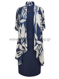 Dress in a tunic. Sleeveless dress with a low crew neckline and zip back fastening. Floral tunic from muslin fabric.pol 100%.Made in Greece.