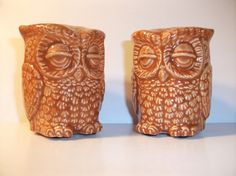 Owl Salt and Pepper Shaker  Vintage 70s by StrokesofMadness, $14.50