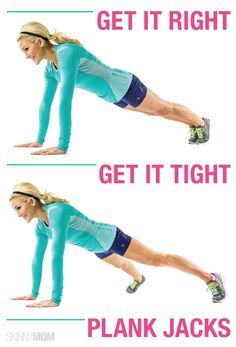 Check out this plank jack that will tighten and tone your entire body!