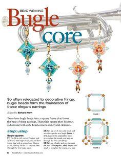 Square Bugle Bead Earring Tutorial - uses 3 mm bugles, 4 mm bicones, mm cube beads & seed beads Seed Bead Earrings, Seed Bead Jewelry, Wire Jewelry, Beaded Earrings, Beaded Jewelry, Handmade Jewelry, Jewellery, Diy Schmuck, Schmuck Design