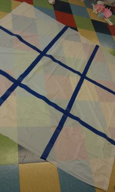 Children's Ministry Game: Giant Tic Tac Toe | Adventure's in Children's Ministry - make this out of a sheet or table cloth.. smart