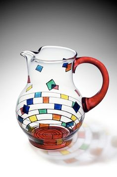 hand painted pitcher by Mindy Sand