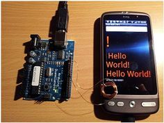 Check out http://arduinohq.com Arduino to Android... Via distorting the magnetic field ! That is really cool!