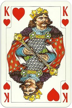 King of hearts Jutrzenka playing cards Poland King Of Hearts Card, Ace Of Hearts, Heart Cards, Poland, Playing Cards, People, Playing Card Games, Ignition Coil, Cards