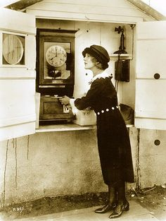 mary pickford at the time clock