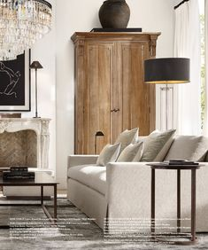 Living Room On A Budget, Living Room Decor, Small Living, Living Spaces, Restoration Hardware Table, French Dining Chairs, Contemporary Interior, Living Room Designs, Modern