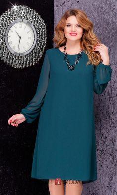 Платье LeNata 11848 зеленый