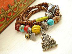 Yoga Bracelet  Yoga Jewellery  Yoga Wear  by HandcraftedYoga, $41.00