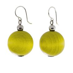 aarikka Apple Green Pallo Earrings $16.75