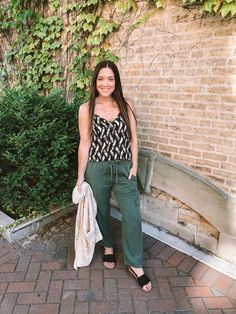 My Style Monday: Joy is Contagious Here's The Thing, Triangle Necklace, Drawstring Pants, Love People, Outfit Posts, Love Fashion, Latest Trends, Personal Style, Lisa