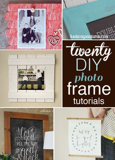 20 best DIY photo frame tutorials - learn how to make a frame in any size and style you want for a lot less than store-bought with these step-by-step tutorials. Diy Projects To Try, Craft Projects, Home Projects, Home Crafts, Fun Crafts, Diy Cadeau Noel, Do It Yourself Design, Diy Foto, Ideias Diy