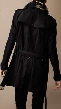 Burberry: Mid-Length Technical Fabric Packaway Trench Coat $795.00