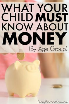 It is important to teach kids about money. But, when do you start and what should you teach them. Get an easy guide so you know what to teach to your kids, by age, so they can understand budgeting, saving and spending. Teaching Money, Teaching Kids, Financial Literacy, Financial Planning, Financial Goals, Amigurumi For Beginners, Teen Money, How To Teach Kids, Baby On A Budget