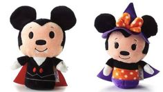 Halloween Mickey Mouse and Minnie Mouse Limited Edition itty bittys plush toys from Disney and Hallmark #Halloween #MickeyMouse #MinnieMouse #Hallmark #Dolls #IttyBittys