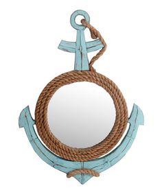 Loving this Coastal Anchor Mirror on #zulily! #zulilyfinds