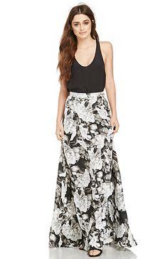 cb72eecf29 Show Me Your Mumu Floral Princess Di Skirt in Black   White